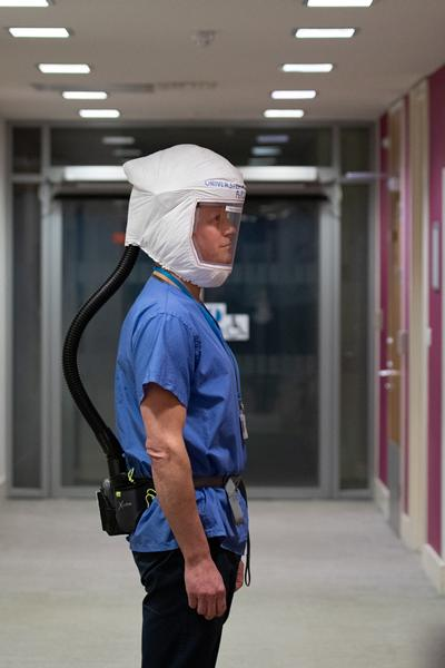 healthcare worker respirator