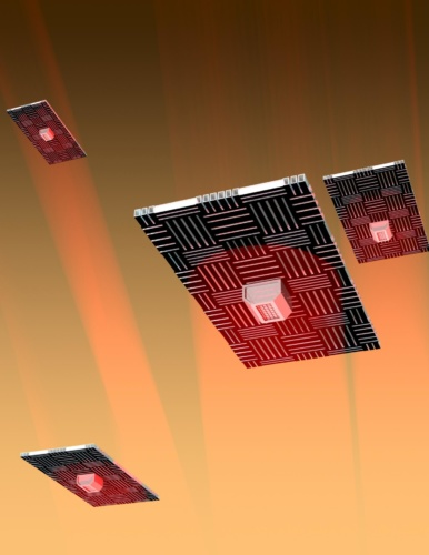 Nanocardboard flyers