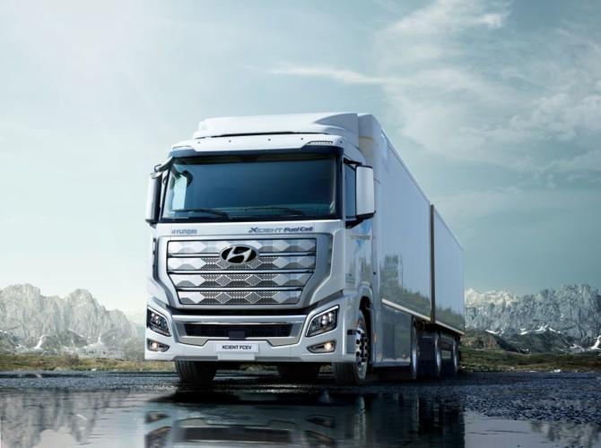 world's first hydrogen truck fleet