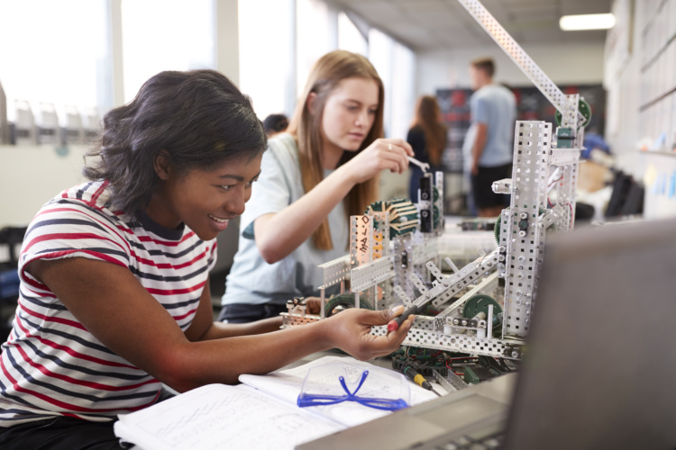young female engineers