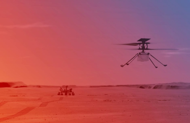 Ingenuity Mars Helicopter makes historic first flight