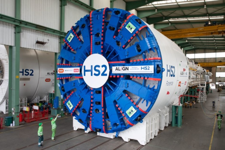 Tunnel boring Florence set to dig the Chiltern Hills