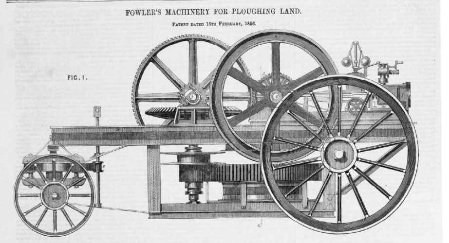 steam-driven plough