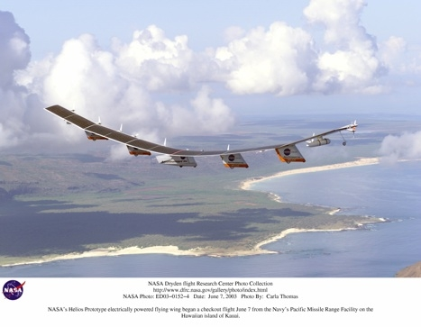 NASA's Helios aircraft was an early attempt at solar flight