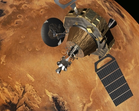 An ESA artists impression of the proposed mars sample return mission
