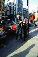 A charging point in Westmister, London