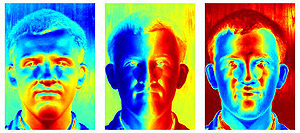 The software analyses the shadows and works out coordinates for each point on the face
