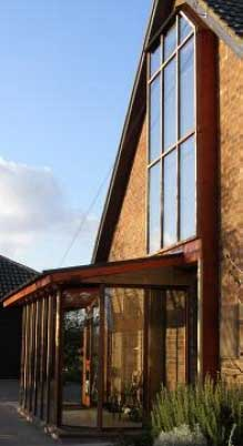 Warm air from the conservatory is fed to the loft space into the rest of the house