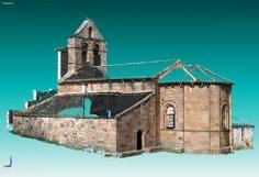 3D model photo of the Valberzoso Church, Palencia, Spain