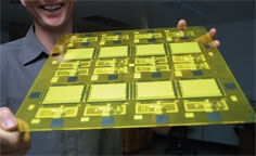 Flexible friend: Plastic semiconductors are ideal for making lightweight display screens