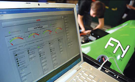 The control system is built around LabVIEW software