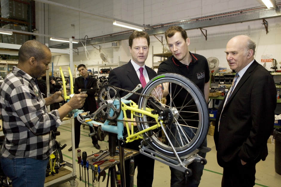 25/01/11 Brompton Factory Nick Clegg Vince Cable