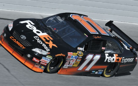 JGR's race car competes on the NASCAR circuit