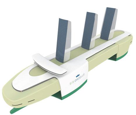 Design progression: Orcelle is a pentamaran — it has five hulls