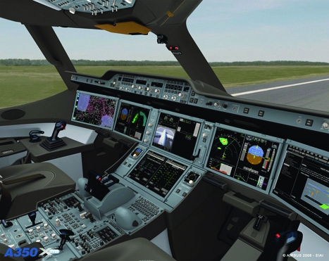 Real trend:made by Thales, the cockpit utilises head-up display technology more typically used in fighter jet