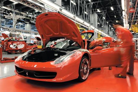 Maranello plant:Ferraris are developed in line with strict performance criteria