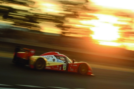 Going the distance:an LMP vehicle on its way to winning a race
