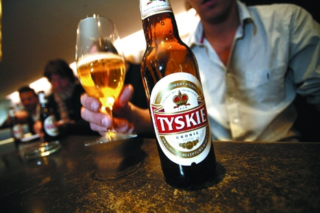 Tyskie is a brand of beer sold in Poland and made by SABMiller