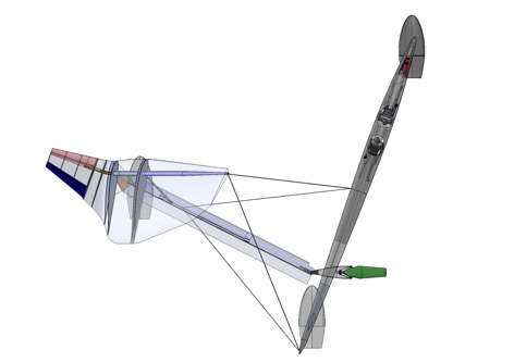 Top view of the Vestas SailRocket II design concept