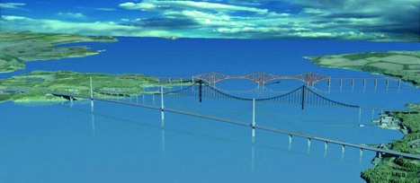 Computer generated image of Firth of Forth including FRC