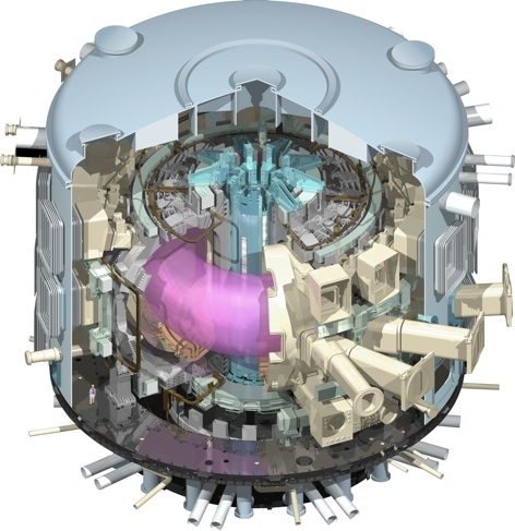 The ITER reactor, under construction in Southern France