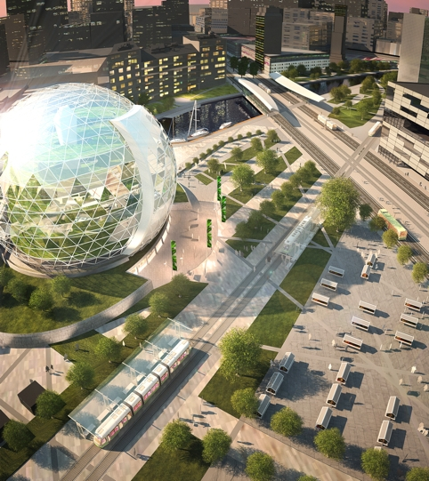 Plantagon's vision of what urban farming might one-day look like