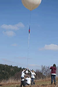 The moment the prototype balloon launch was released
