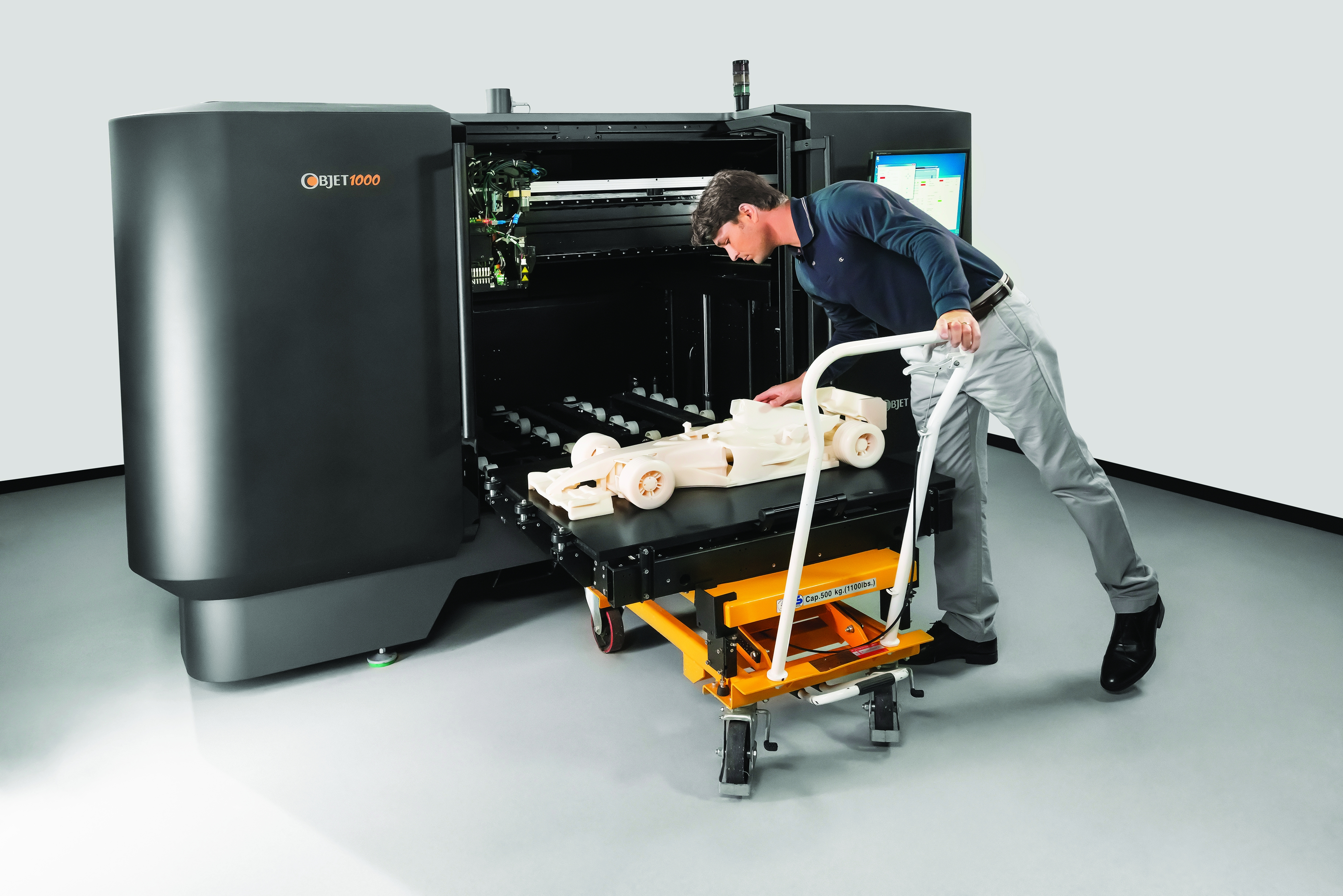 Objet's connex 3D printers are the only commercially available systems able to print multi-materials
