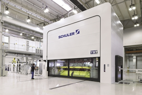 Schuler has built a 1600t prototype TST press at its Forming Technology Centre in Erfurt, Germany