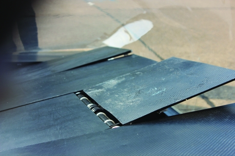 The solar cells are mounted on moveable tracker plates