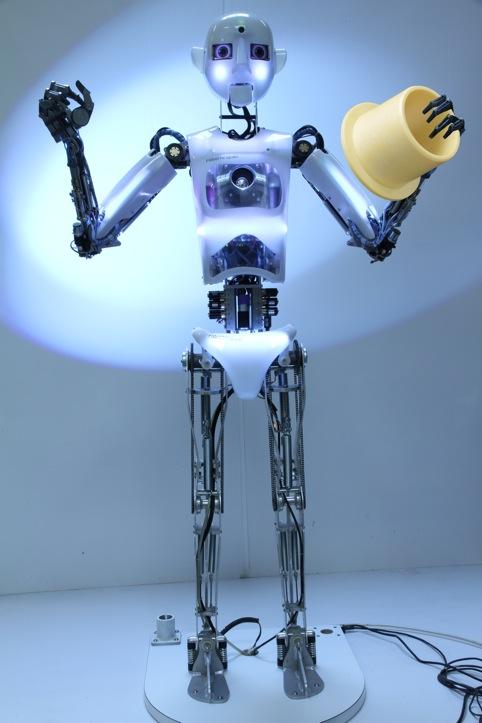 The robot uses Igus Iglidur bearings on its rotational shafts