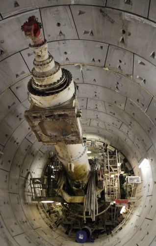 It was considered more cost-effective to leave the 2 TBMs (Ada and Phyllis) embedded in the ground
