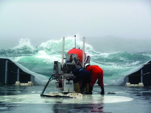 The Hugin can be deployed in relatively rough sea-states