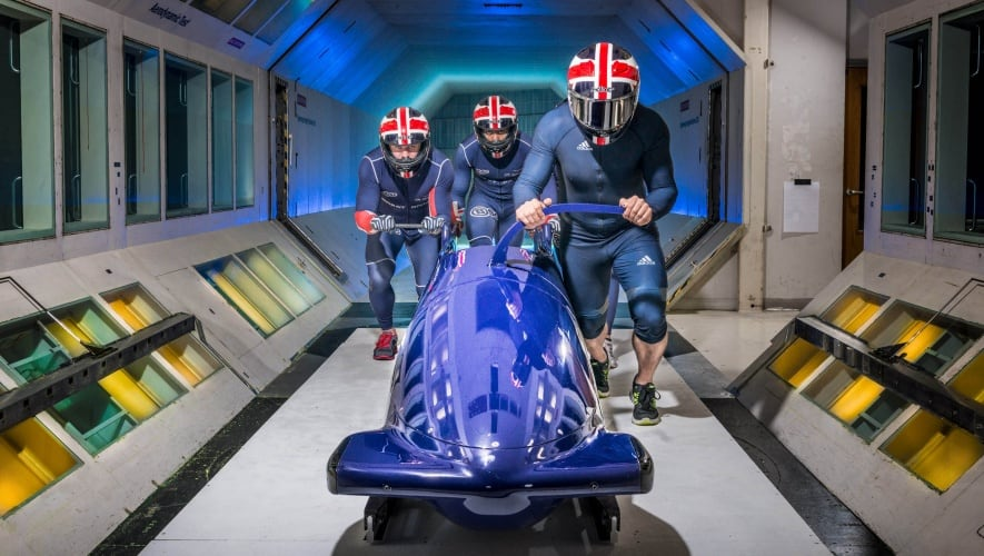 The tunnels were used by the British Bobsleigh team ahead of the 2014 winter Olympics