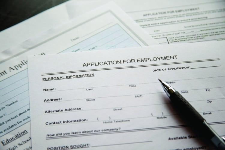 graduate job application form
