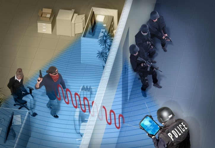 The technology could be used to monitor hostage situations