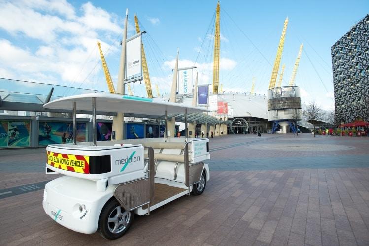 The Meridian Shuttle is undergoing trials around Greenwich