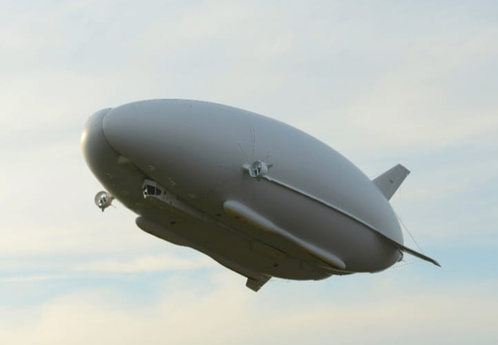Airlander 10 during a 90 minute test flight carried out in 2012