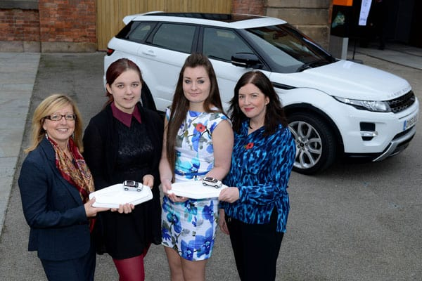 Left to Right: Fay Best, WISE; Chloe Adams-Pickford; Ruby Holmes; Danella Bagnall, Jaguar Land Rover
