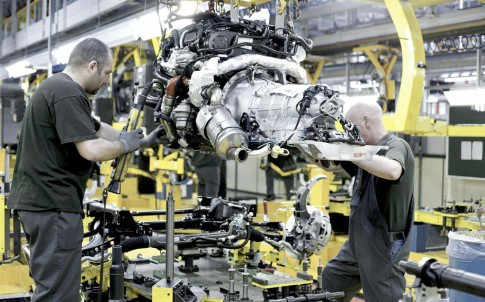 Inside JLR's Castle Bromwich Plant. The firm's success has been at the heart of the sector's growth.