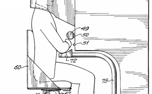 Illustration of Morton Heilig's Sensorama device, precursor to later virtual reality systems.