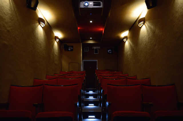 Inside the mobile cinema today
