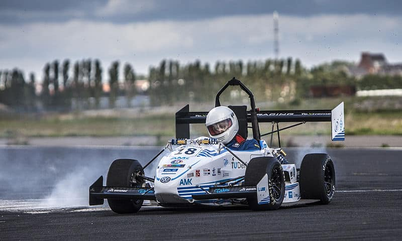 The 13th car of the Formula Student team from Delft: the DUT13.