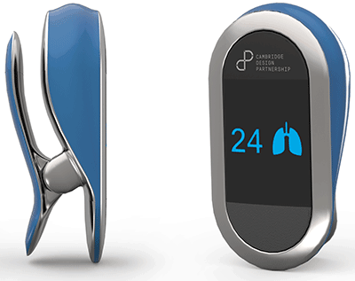 The devices measures heart and respiratory rates