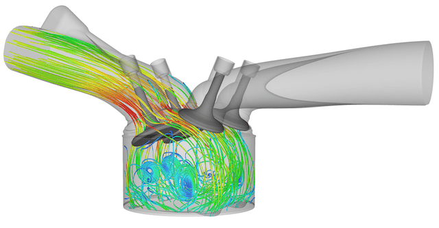 Converge differs from most other CFD packages is that the meshing function is fully integrated and coupled into the flow and chemistry solver