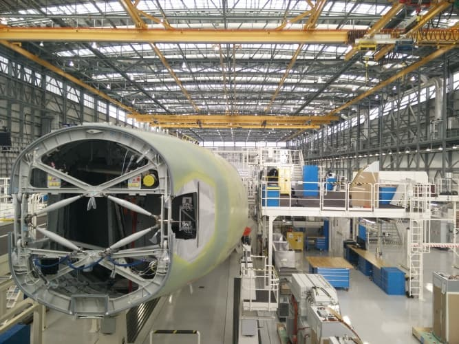When up to full speed, the facility will produce up to four finished A320s each month.