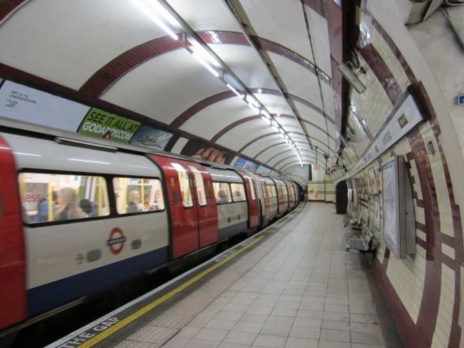 Train at Hampstead station