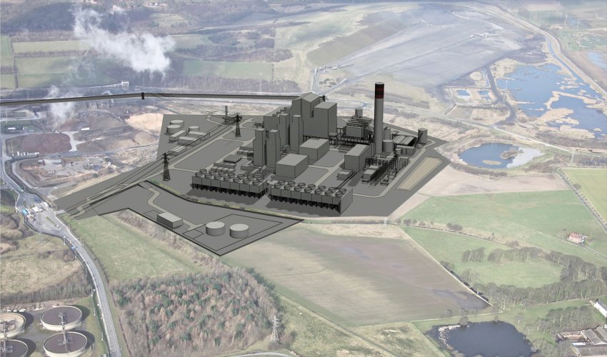 An illustration of the White Rose CCS Plant