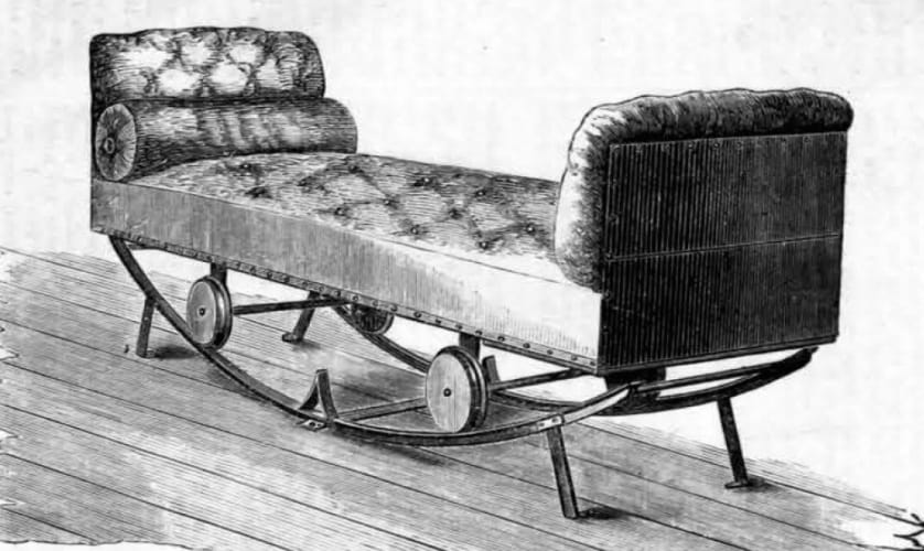 Anti sea sickness couch