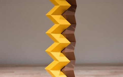 Origami 'zipper tubes' interlocking zigzag paper tubes, can be configured to build a variety of structures that have stiffness and function, but can fold compactly for storage or shipping